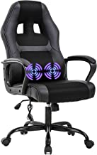 PC Gaming Chair Massage Office Chair Ergonomic Desk Chair Adjustable PU Leather Racing Chair with Lumbar Support Headrest ...