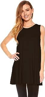 Best black sleeveless tunic tops Reviews