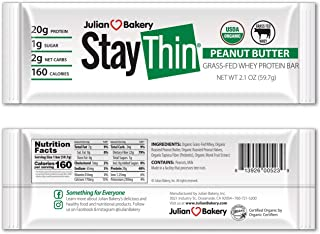 Sponsored Ad - Julian Bakery® Stay Thin® Protein Bar (Certified Organic) 12 Gluten-Free Bars) (20g Grass-Fed Whey Protein)...
