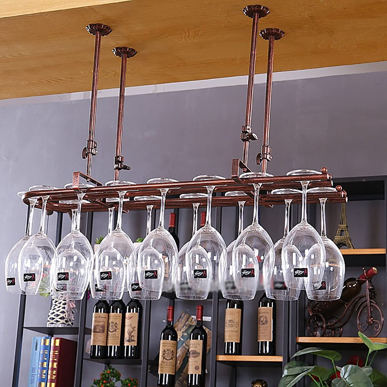calidad auténtica JJJJD Estante del vino, Estante Estante Estante de la cristalería, Estante del Vino Que cuelga, Estante de la Copa Que cuelga, Estante de Cristal Creativo del Vidrio del Vino (Tamaño   L8025CM)  costo real