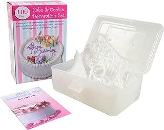 Bradex 100 Piece Cake Decorating Kit, Instruction and Decorating Idea Book