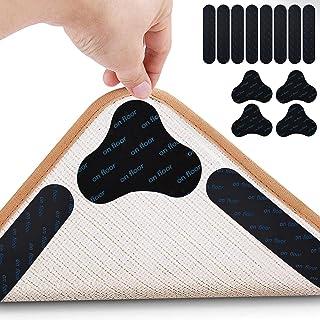 Inmorven Non-Slip Rug Grippers 12 Pcs Rug Grip Tape Kit Reusable Cloud and Oval Shape Anti Curling Rug Pad,Make Corner Fla...