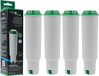 Filterlogic 4 x CFL-701B Filtre à Eau remplace Claris F088 / Claris Pro Aqua Cartouche filtrante pour Melitta/Krups/Nivon...