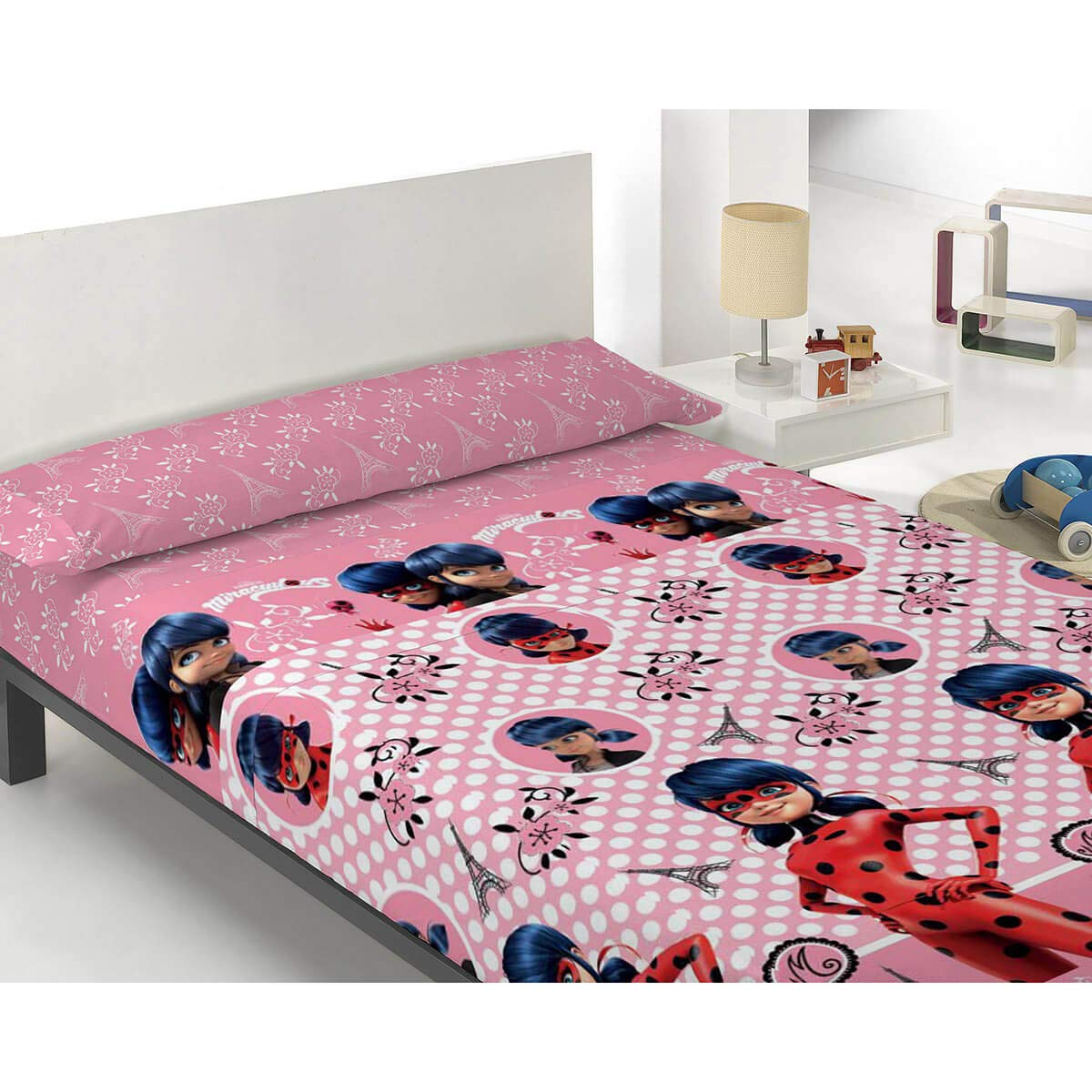 Zag Juego de sábanas Infantil Lady Bug - 100% Algodón - Color Rosa ...