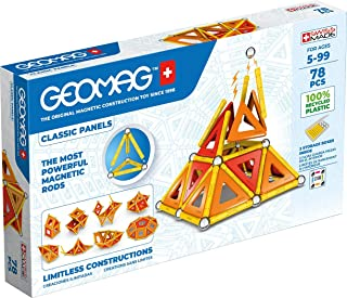 Geomag - Classic Panels 78 Pieces - Magnetic Construction for Children - Green Collection - 100% Recycled Plastic Educatio...