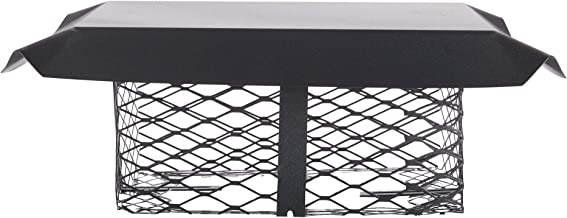 Shelter SCADJ-S Adjustable Clamp On Black Galvanized Steel Single Flue Chimney Cap