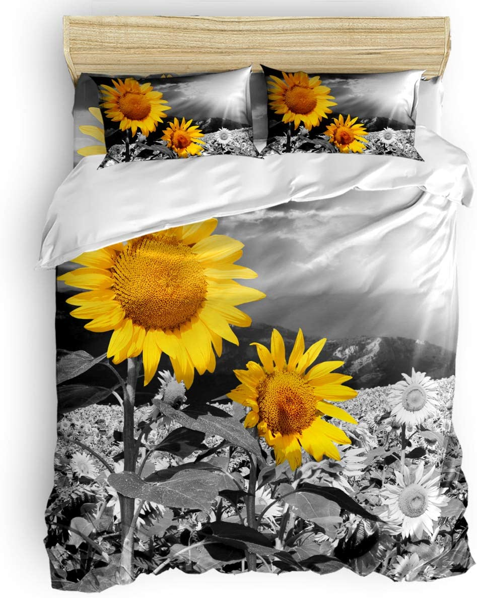 4pcs Duvet Max 65% OFF Cover Set Soft Lightweight Bedding La Sets Grey Hotel Super sale period limited