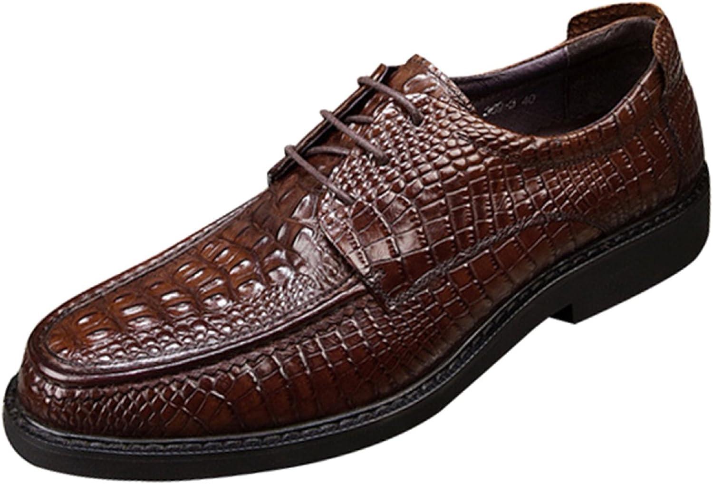 Men's Lace Business Casual shoes Wedding shoes Black Leather Fashion