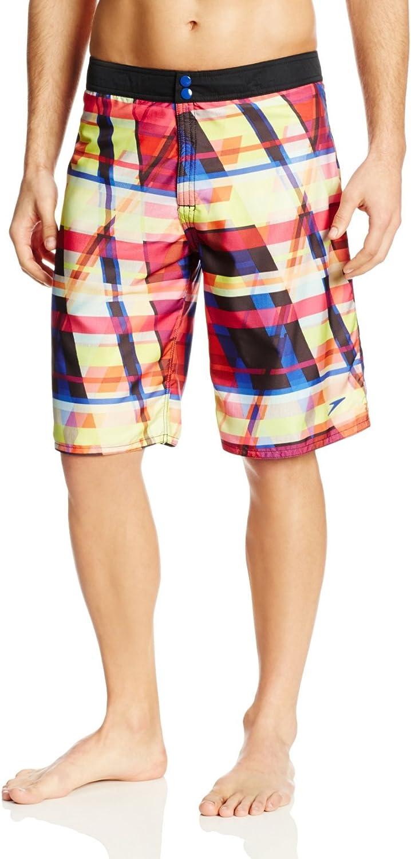Speedo Men's Modern Stripe Reversible Board Shorts