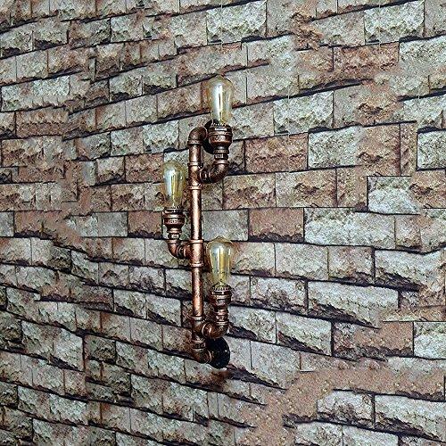 Slaapkamer Armaturen Retro Industrieel Pakhuis 3 Head ijzeren muur Lamp American Slaapkamer Woonkamer Water Wall Light W Wandlamp Verlichting