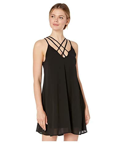 American Rose Elena Strappy Dress (Black) Women