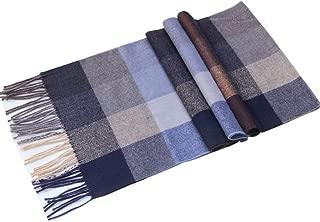 Lucky Leaf Women Men Winter Luxury Cozy Wool Warm Tartan Checked Plaid Wrap Scarf