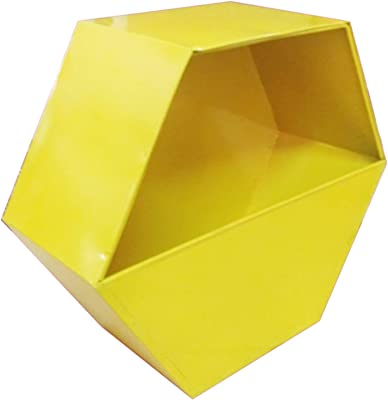 TrustBasket Hexagon Wall Planters (Yellow, Ivory and Magenta) - Set of 3