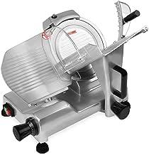 Vertes 300 mm Trancheuse à jambon professionnelle (0,2-15 mm Profondeur, Dispositif d´affûtage intégré, Interrupteur de Sé...
