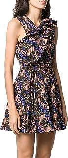 Ulla Johnson Womens Iliana Geometric Print Dress Army