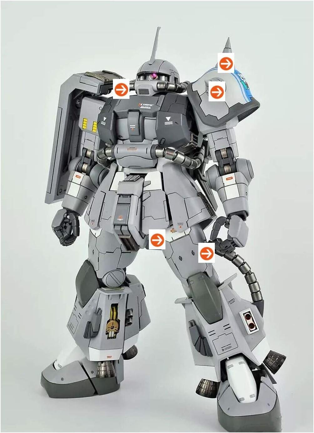 Metal Modified Parts 完全送料無料 Set Fits Bandai 毎週更新 1 Za MG MS-06R-1A Hobby 100