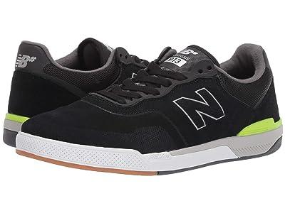 New Balance Numeric 913 (Black/Hi-Lite Suede) Men