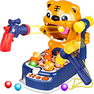 Educational Toddler Toy Game,Interactive Pounding Toy with Lights Sounds Preschool Learning Toy for 3-Year-Old and Up for Boys and Girls JXAA Whack A Mole Game