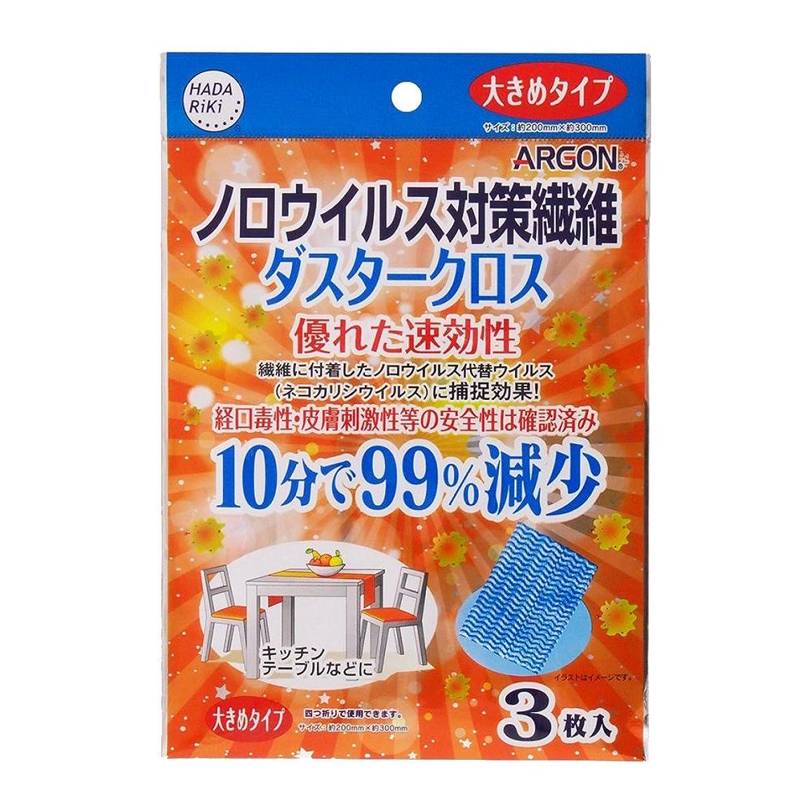 ハンバーガー結晶防止ノロウイルス対策繊維 アルゴンダスタークロス (3枚入)