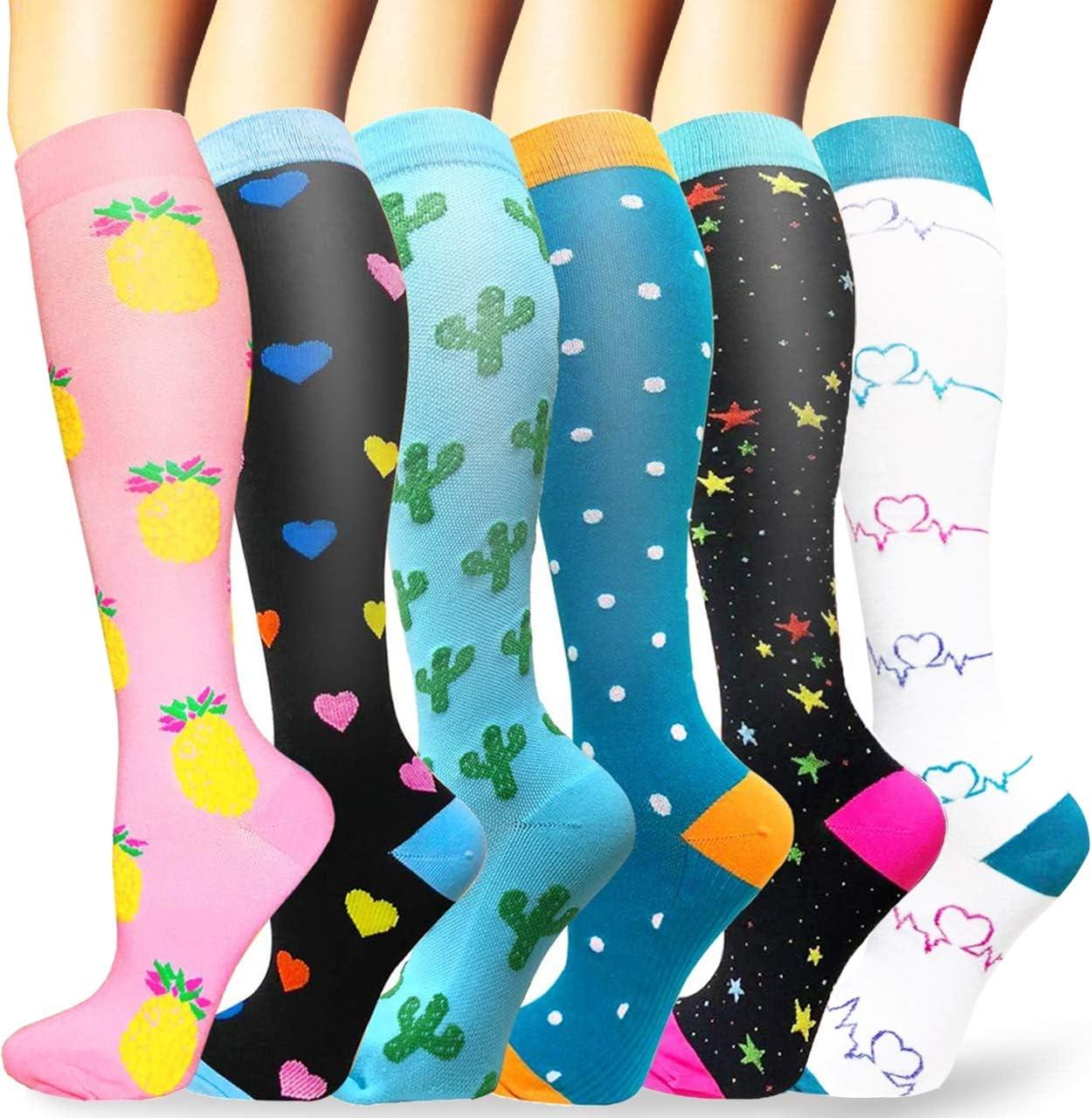 Sooverki Calcetines de compresión para Mujeres y Hombres 20-25 mmHg es el Mejor Graduado atlético, Correr, Volar, Viajar, Enfermeras