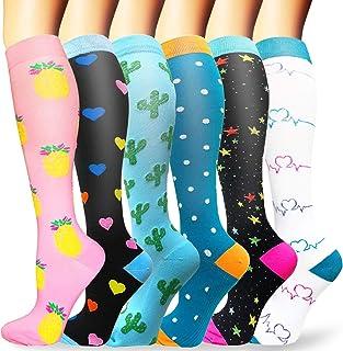 comprar comparacion Sooverki Calcetines de compresión para Mujeres y Hombres 20-25 mmHg es el Mejor Graduado atlético, Correr, Volar, Viajar, ...