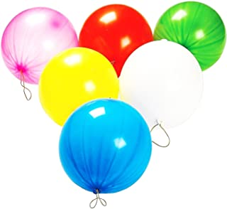 50 Pack Punch Balloons | Mega Bulk Pack of Neon Assorted Color Punch Balloons that Measure 10 Inches.