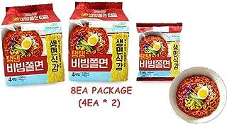 Bibimmyeon Jjolmyeon Bibim Spicy Cold Chewy Noodles NOT Fried Noodle Real Ramen,Korean Food (8EA)