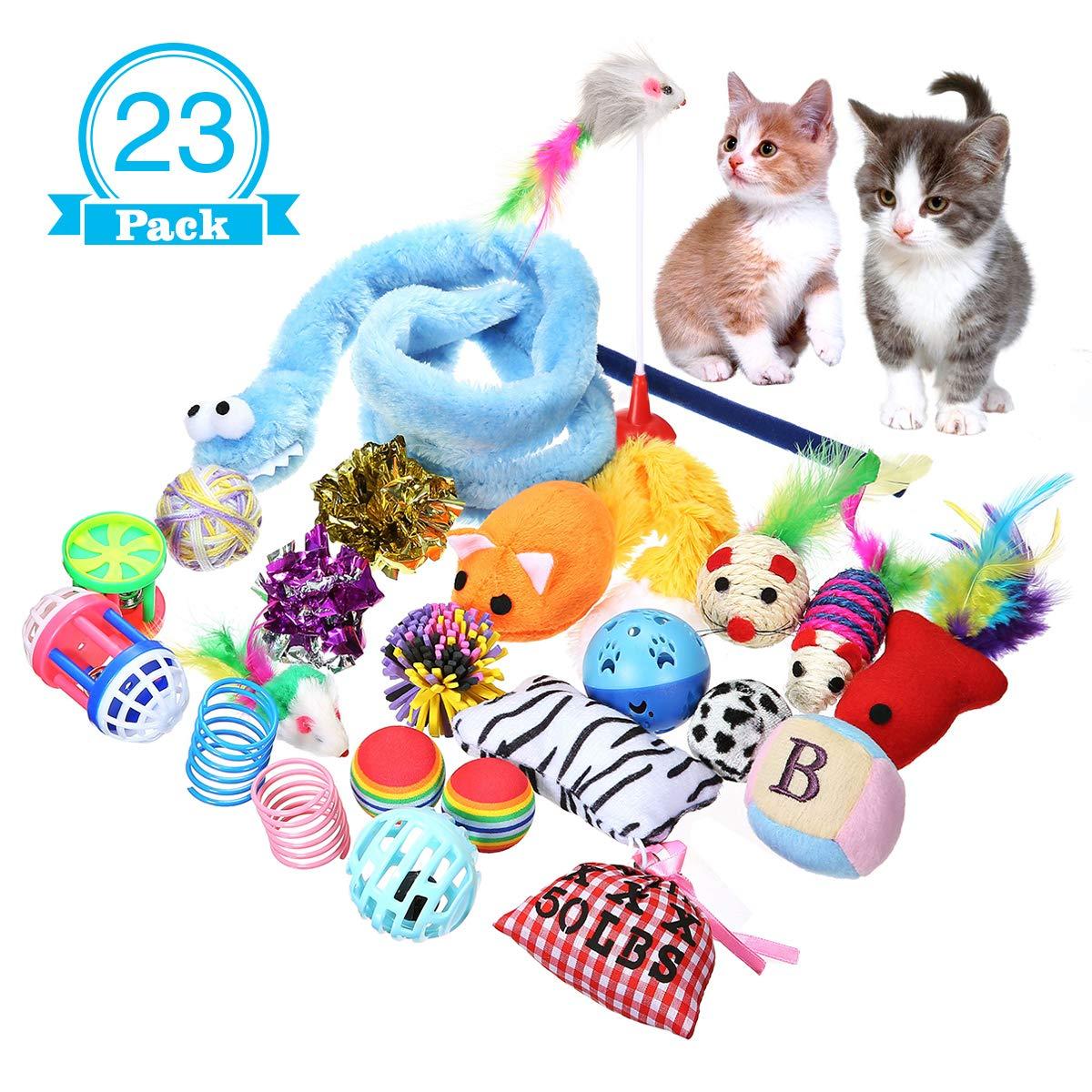 Focuspet Juguete para Gatos, Cat Juguete Interactivo para Gatos ...