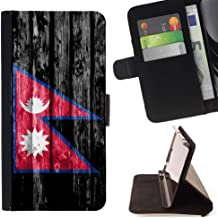 FJCases Nepal Nepali Nepalese Wood Pattern Flag Slim Wallet Card Holder Flip Leather Case Cover for Google Pixel 2 XL