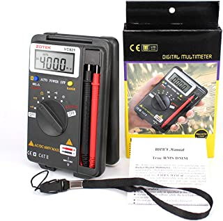 Elviray VC921 Pocket Multímetro de Autorangaje Digital Portátil 4000 Cuentas AC DC Voltímetro Ohm Medidor de