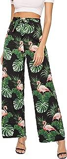 Summer Printed High Waist Casual Wide Leg Long and Crop Pants