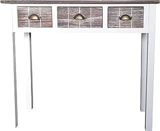 elbmöbel–Mesa consola 3cajones madera Consola Aparador estante mesa estilo rústico