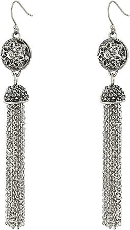 Lucky Brand - Marcasite Fringe Earrings