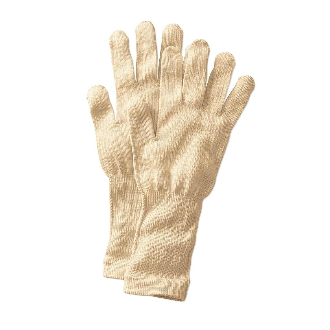従事したアーサー反動[ベルメゾン] 手袋 シルク 冷え取り おやすみ あったか /冷えとり日和365 クリーム