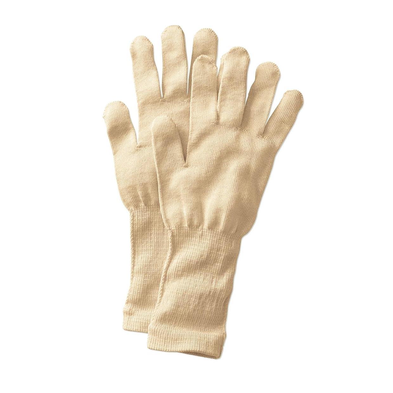 影レンダー圧縮する[ベルメゾン] 手袋 シルク 冷え取り おやすみ あったか /冷えとり日和365 クリーム