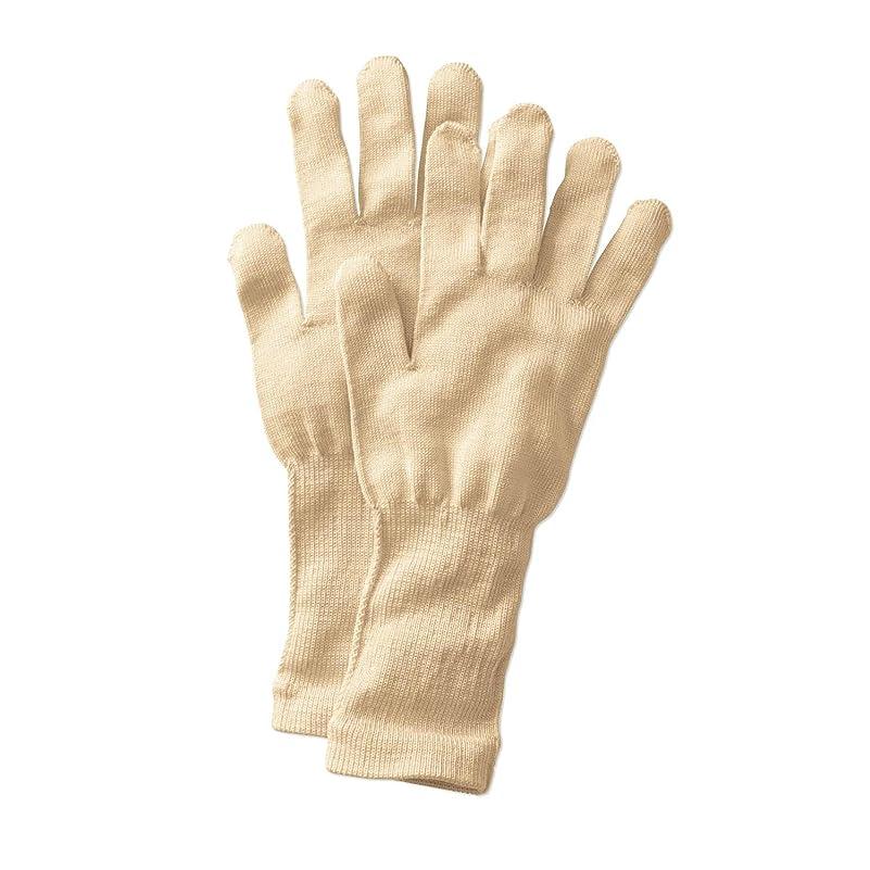 たっぷり引退する来て[ベルメゾン] 手袋 シルク 冷え取り おやすみ あったか /冷えとり日和365 クリーム