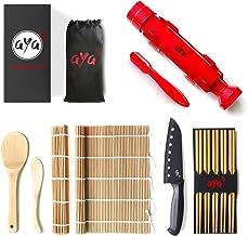 Sushi Making Kit - Original AYA Bazooka Kit - Sushi Knife - Video Tutorials - Sushi Maker - 2 Bamboo Mats - Paddle Spreade...