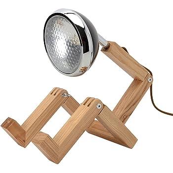 Neoly 34 2M 005 Lampe articulée orientable Bonhomme LED Bois Mister woody Noir H30 à 56 x 15,3 x 19 à 27,5 cm