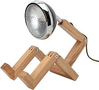Neoly 34-2M-005 Lampe articulée orientable Bonhomme LED Bois Mister woody Noir H30 à 56 x 15,3 x 19 à 27,5 cm