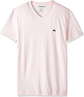 Lacoste mens Men's V-neck Pima Cotton Jersey T-shirt T-Shirt