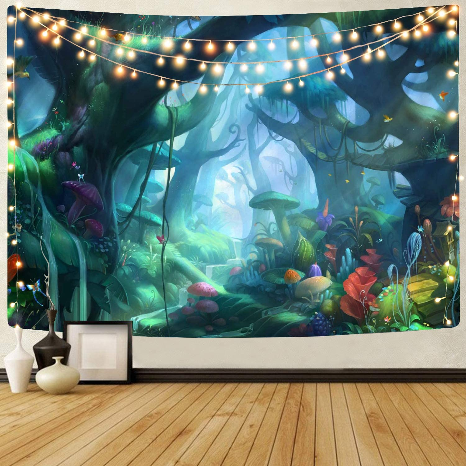 Sportbull Sales for sale Fairy Forest Tapestry Cartoons Graph Max 76% OFF Plant 3D Fantasy