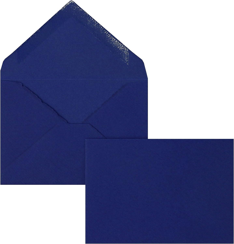 Blanke Briefhüllen - 100 Briefhüllen im Format 70 70 70 x 100 mm in Royalblau gerippt B00FPO82II | Vorzüglich  5380e4