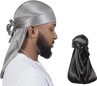 ForceWave 2 Pieces Silky Durag Pack for Men Women Waves, Premium Satin Deluxe Du-rag