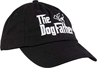 Ann Arbor T-shirt Co. The Dogfather | Funny Cute Dog Father Dad Owner Pet Doggo Pup Fun Humor Baseball Cap Hat Black