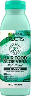 Garnier Fructis Hair Food Champú de Aloe Vera Hidratante para Pelo Normal Negro - 350 ml