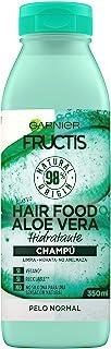 Garnier Fructis Hair Food Champú de Aloe Vera Hidratante para Pelo Normal Negro - 350 ml