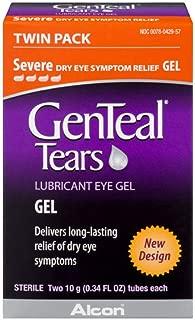 GenTeal Lubricant Eye Gel, Severe, Twin Pack - ( 2 tubes 10 grams each)  - Packaging May Vary