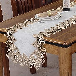 Table Runner Mantel Tapa de Mesa Encaje Hueco Aparador Toalla Mantel Paño de Mesa Vinoteca Gabinete Toalla TV Gabinete Toa...