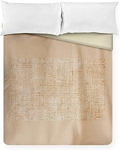 Lantern Press Natural Fabric Texture Up Close A-9005296 (88x88 Queen Microfiber Duvet Cover)