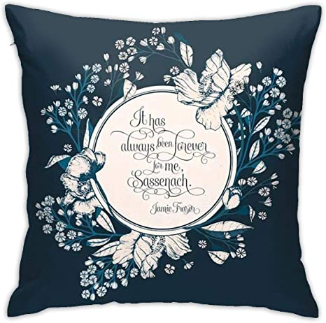Anya Topshop Autumn House Decorative Throw Pillow Covers 18x18 Inch Bedbug Proof It Has Always Been Forever For Me Sassenach Jamie Fraser Pillowcases Cushion Cover For Floor Playroom Hotels Home